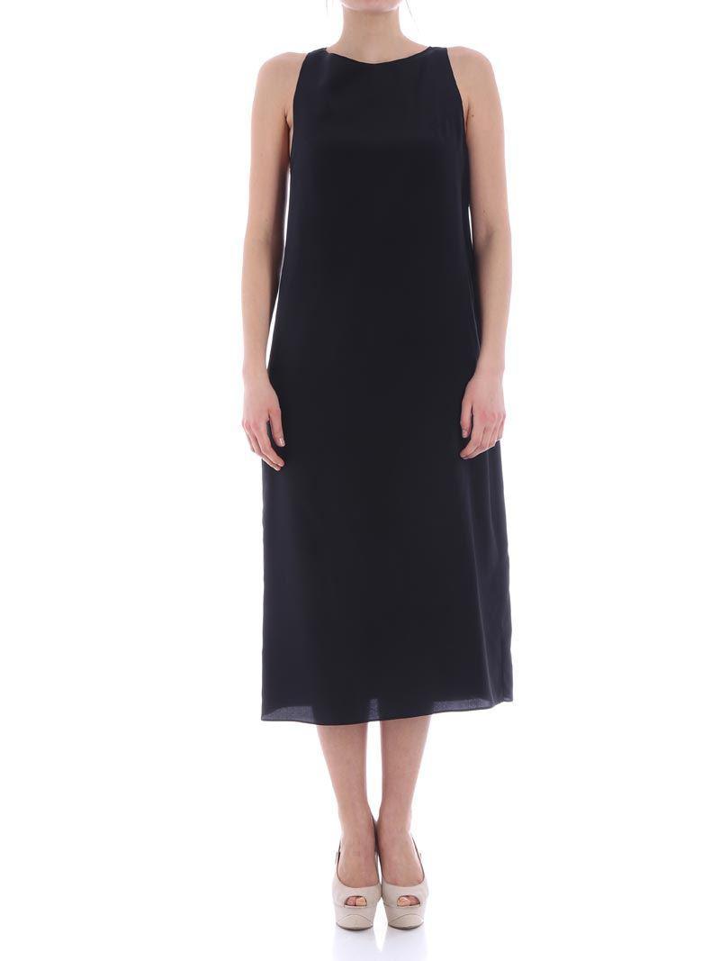 Black V-neck dress Aspesi Clearance Outlet Marketable Exclusive uPdBLV
