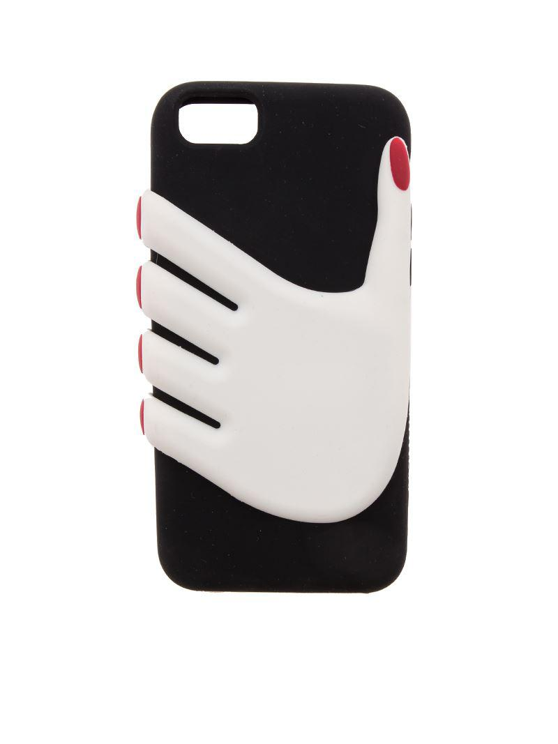 low price c9456 1562d Lulu Guinness Cover Hands Iphone 6/7 in Black - Lyst