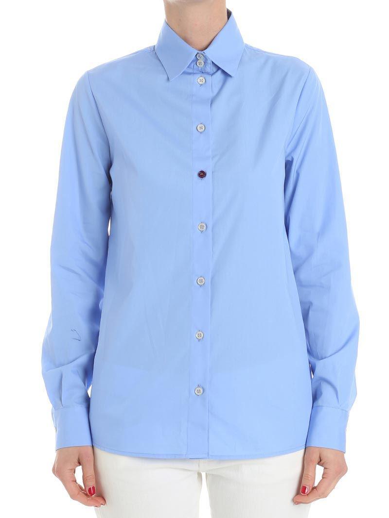 Light-blue shirt with white stripes Stella Jean Sale Very Cheap 1Oltk9Z