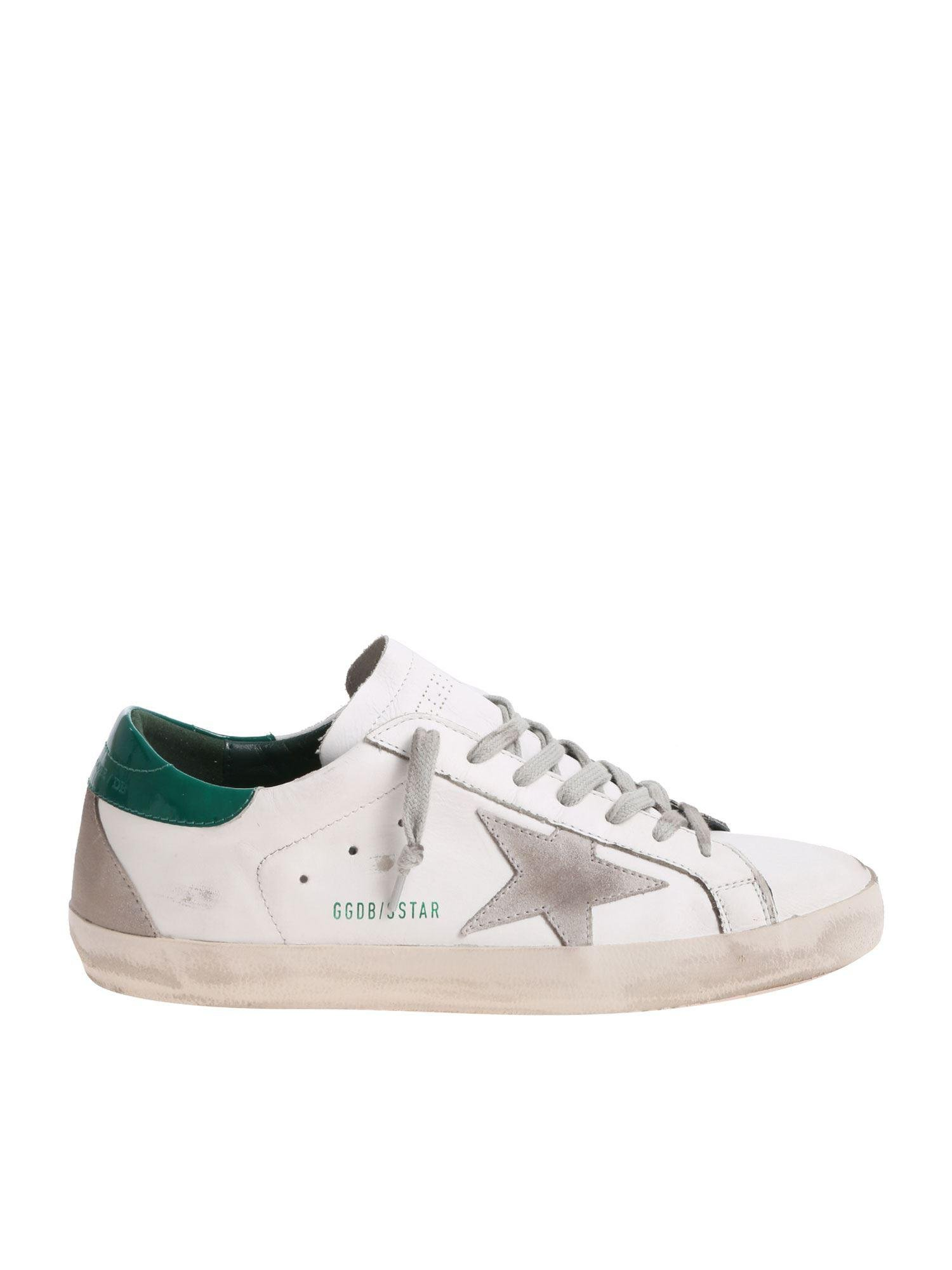 aec194870a4c Golden Goose Deluxe Brand - Superstar White Sneakers With Green Insert for  Men - Lyst. View fullscreen