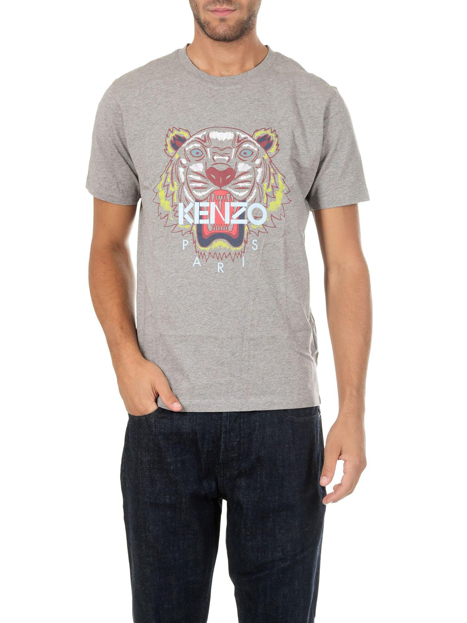 c451129b KENZO Gray Tiger Print T-shirt in Gray for Men - Lyst