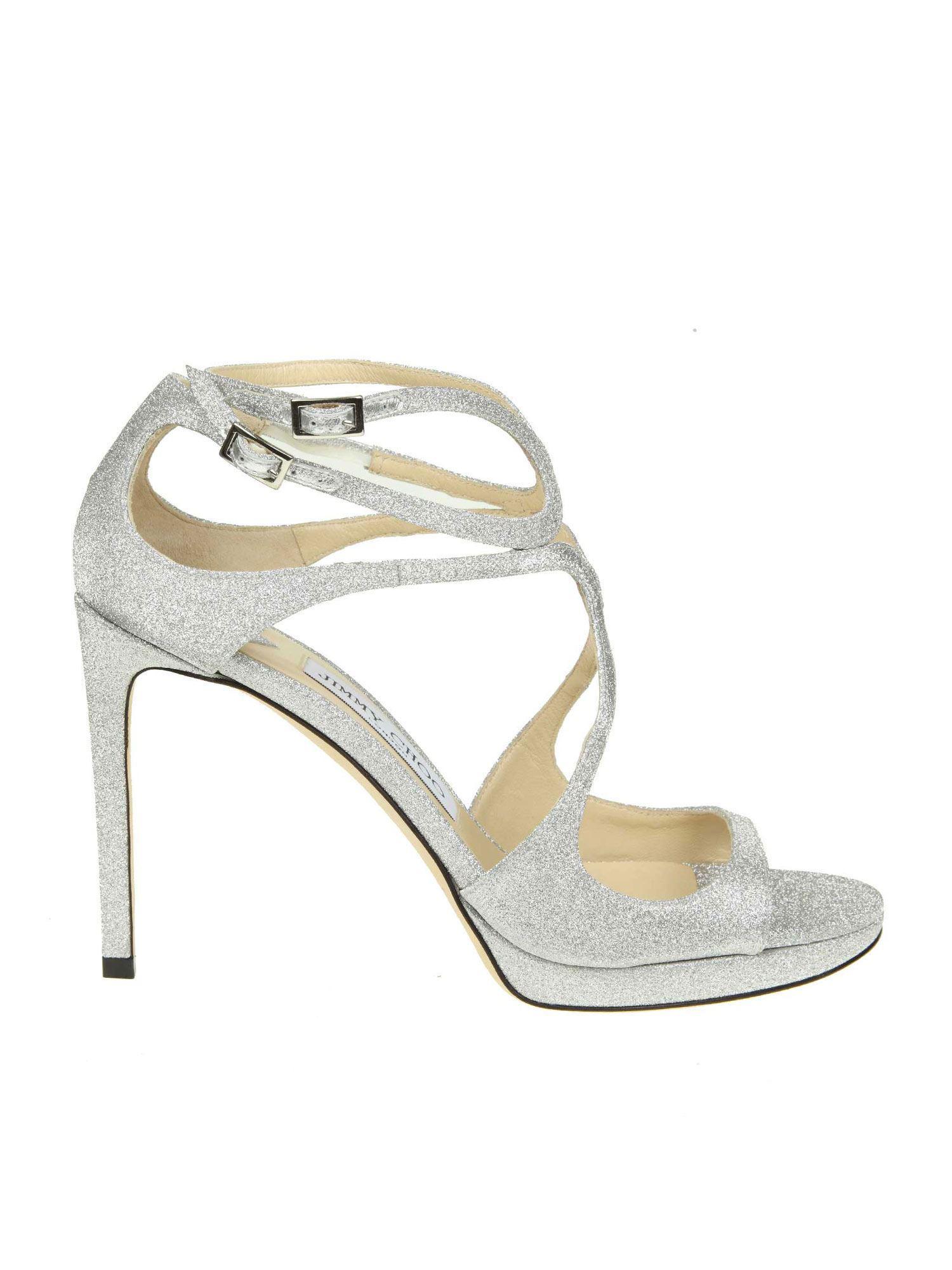 Qrctshd Lance With In Strap Pf Choo Sandals 100 Glitter Jimmy Silver K1JFlc