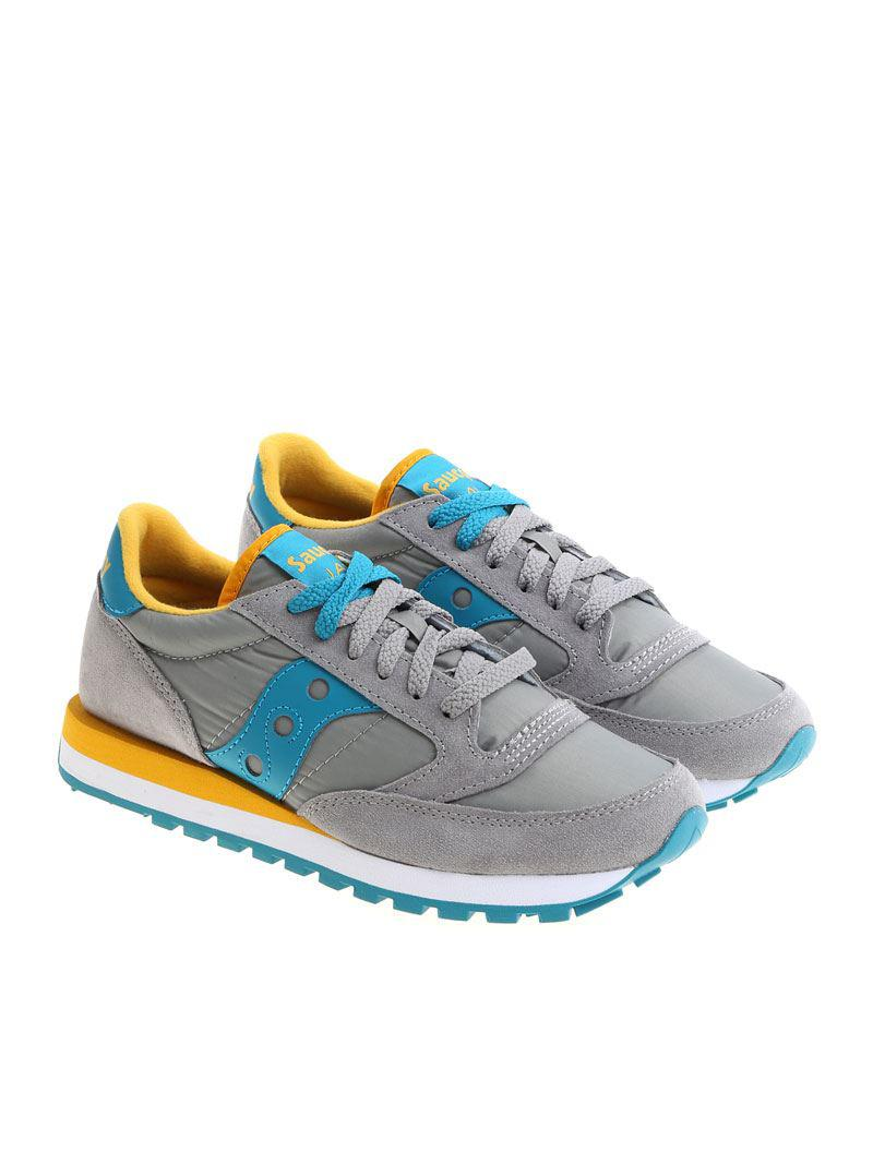 Gray and turquoise Jazz sneakers Saucony GmtFn