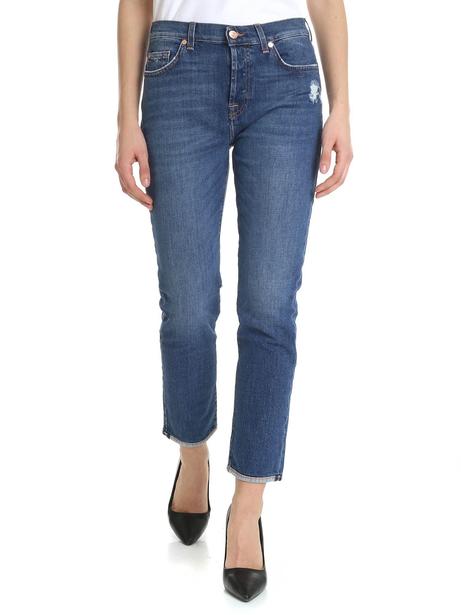 919971708f8 Lyst - 7 For All Mankind Blue Asher Jeans in Blue