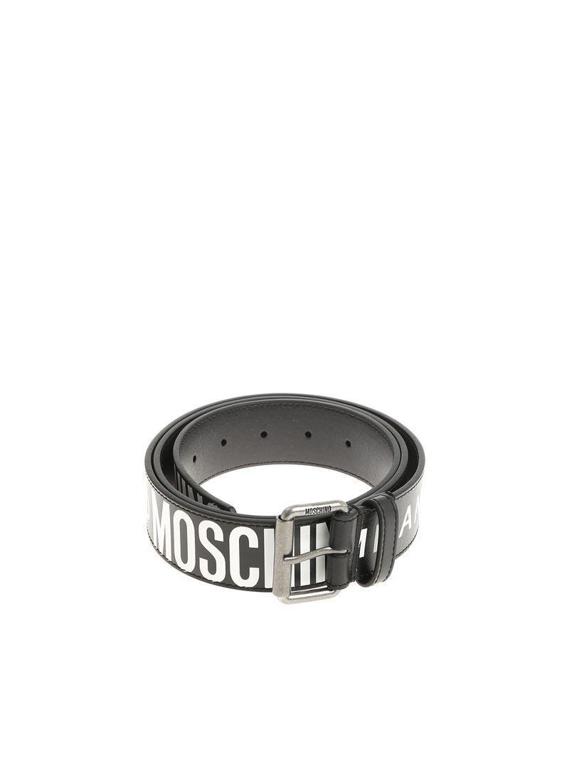 cf9c26f0dc Moschino - Black Belt With Logo for Men - Lyst. View fullscreen