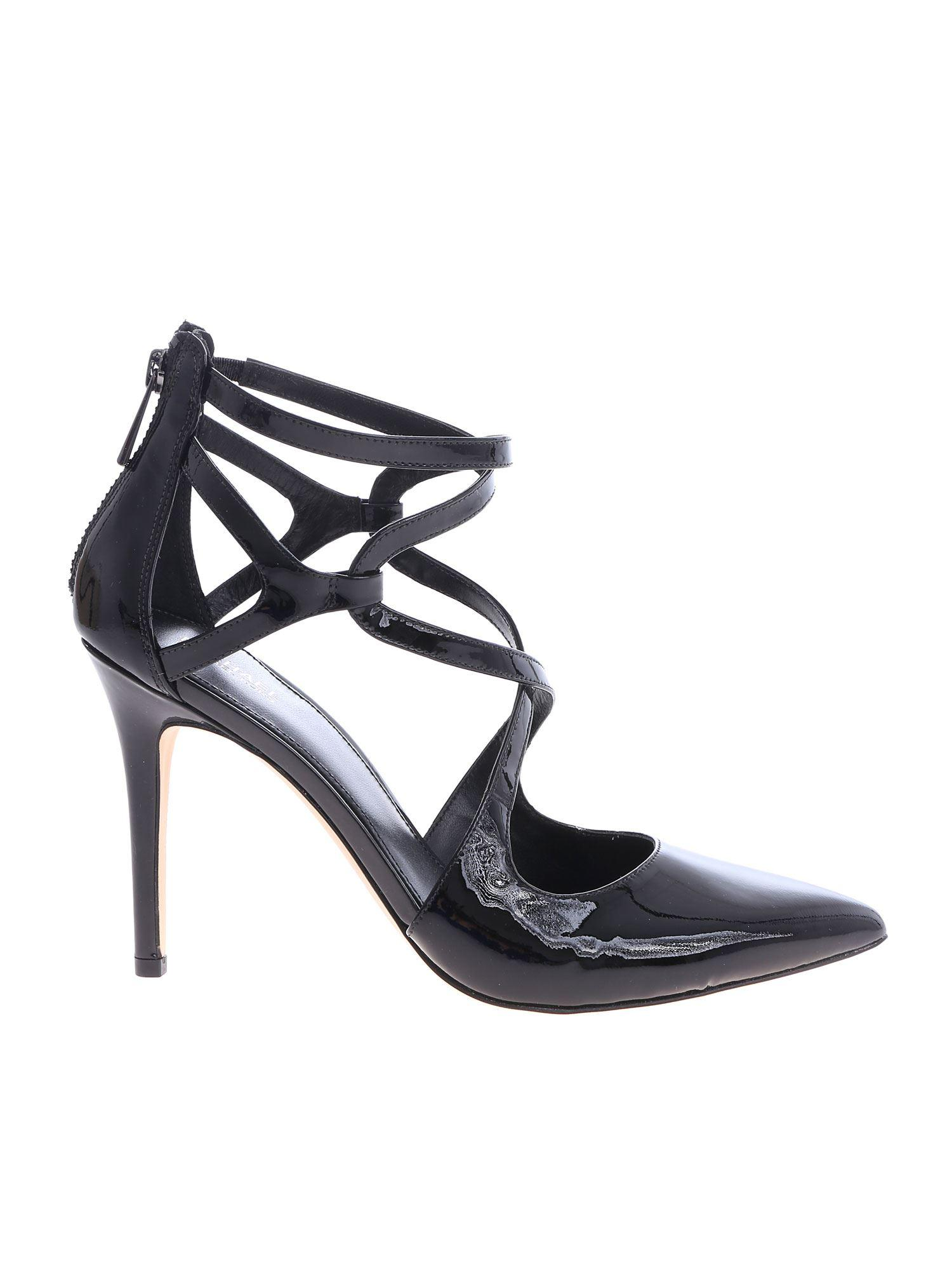 ae5b40e9bafd Lyst - Michael Kors Catia Pumps In Black Leather in Black