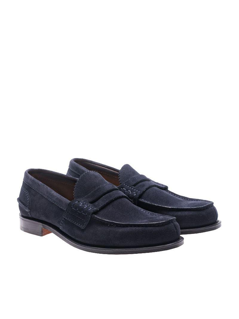 92502b2a3c9 Church s Blue Suede Pembrey Loafers in Blue for Men - Lyst
