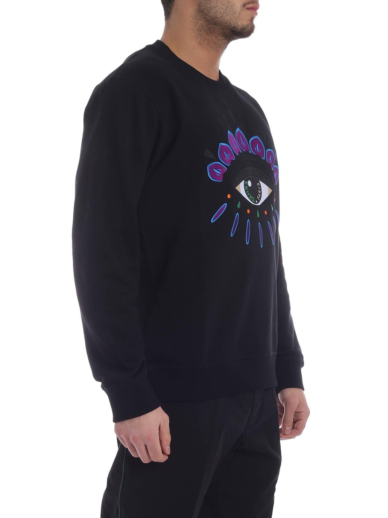 7814aa852 Kenzo Black Eye Classic Sweatshirt in Black for Men - Lyst