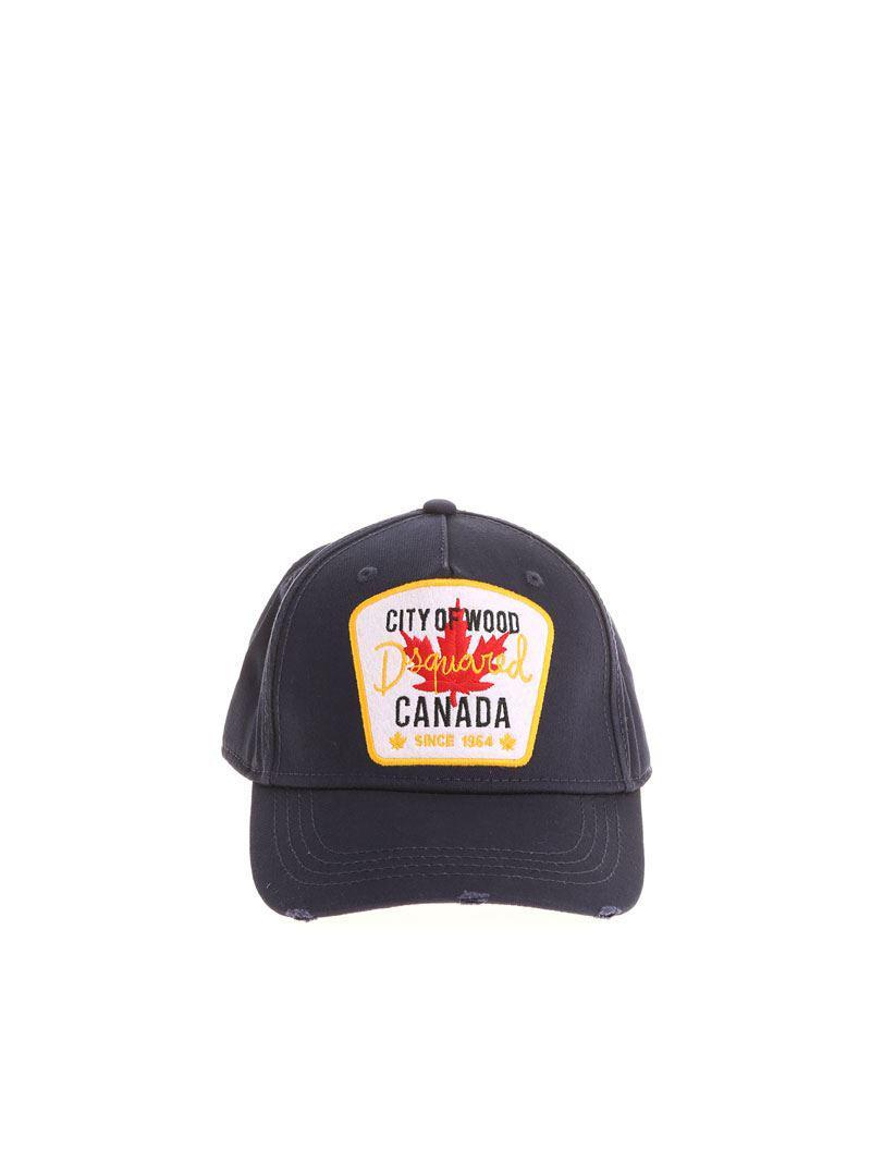 Blue Canada City Of Wood cap Dsquared2 c1QQ9ttqrf