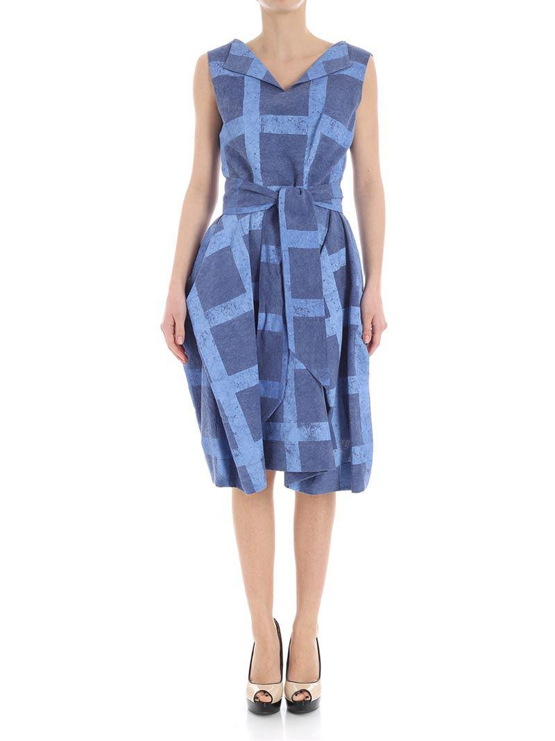 Blue geometric dress Vivienne Westwood 4DUdi9Q5F