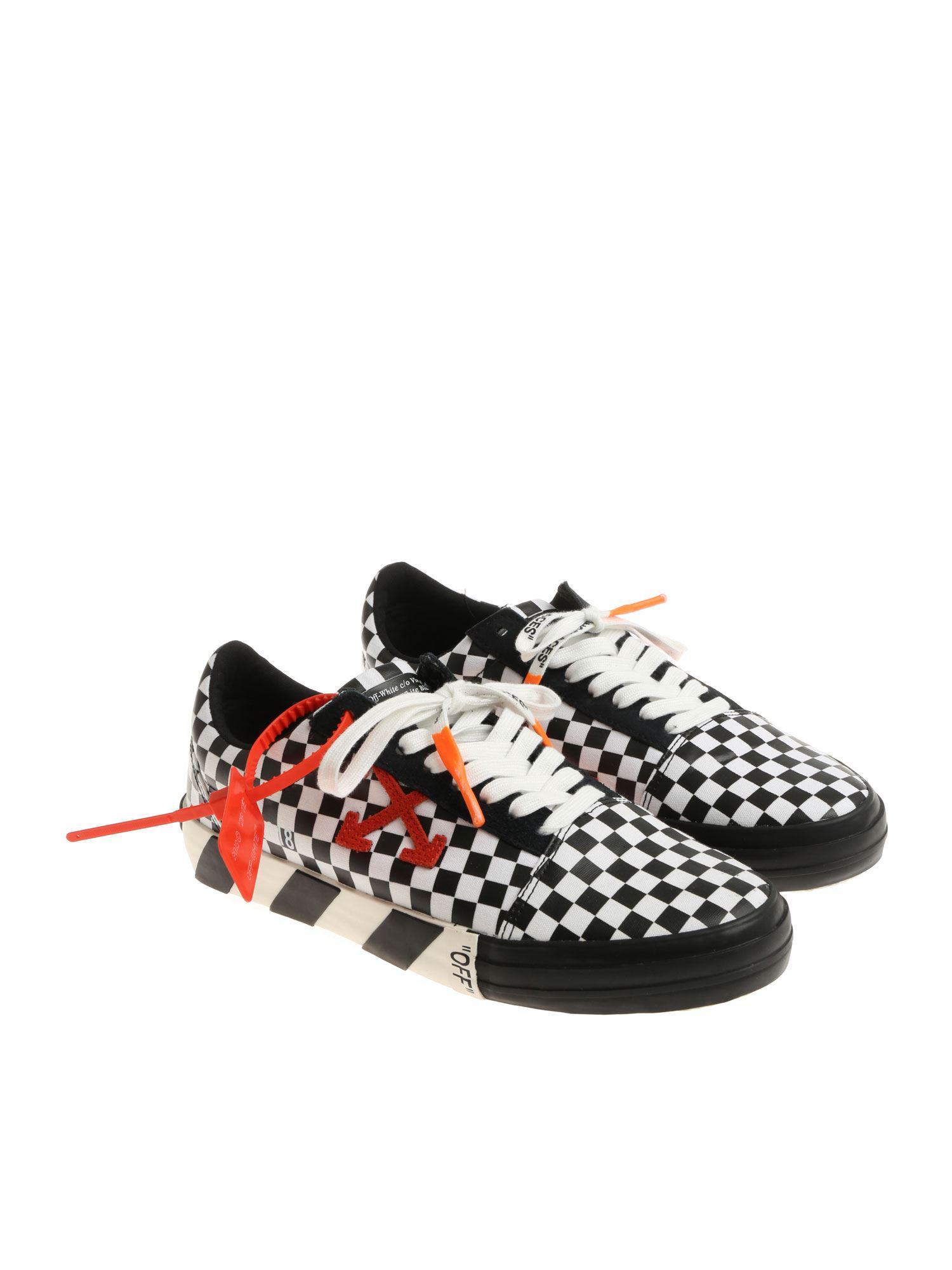 a766fcb1f39 Lyst - Off-White c o Virgil Abloh Low Top Checkered Sneakers for Men