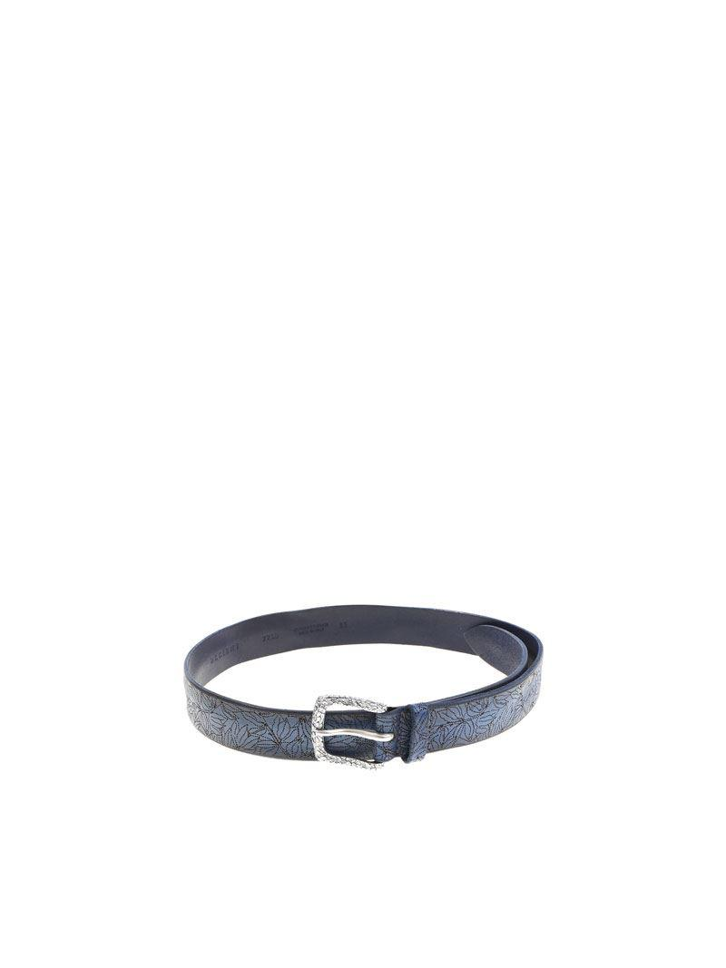 Blue micro-patterned belt Orciani 0Lac8