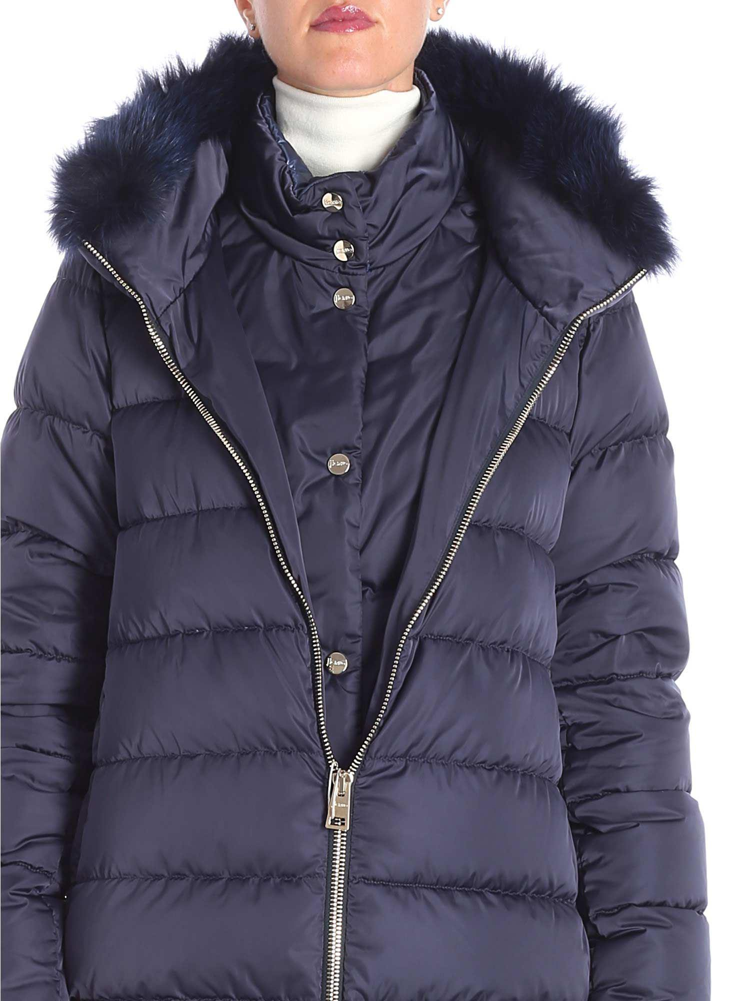 1a141f0b070a Lyst - Herno Blue Polar Tech Down Jacket With Removable Insert in Blue