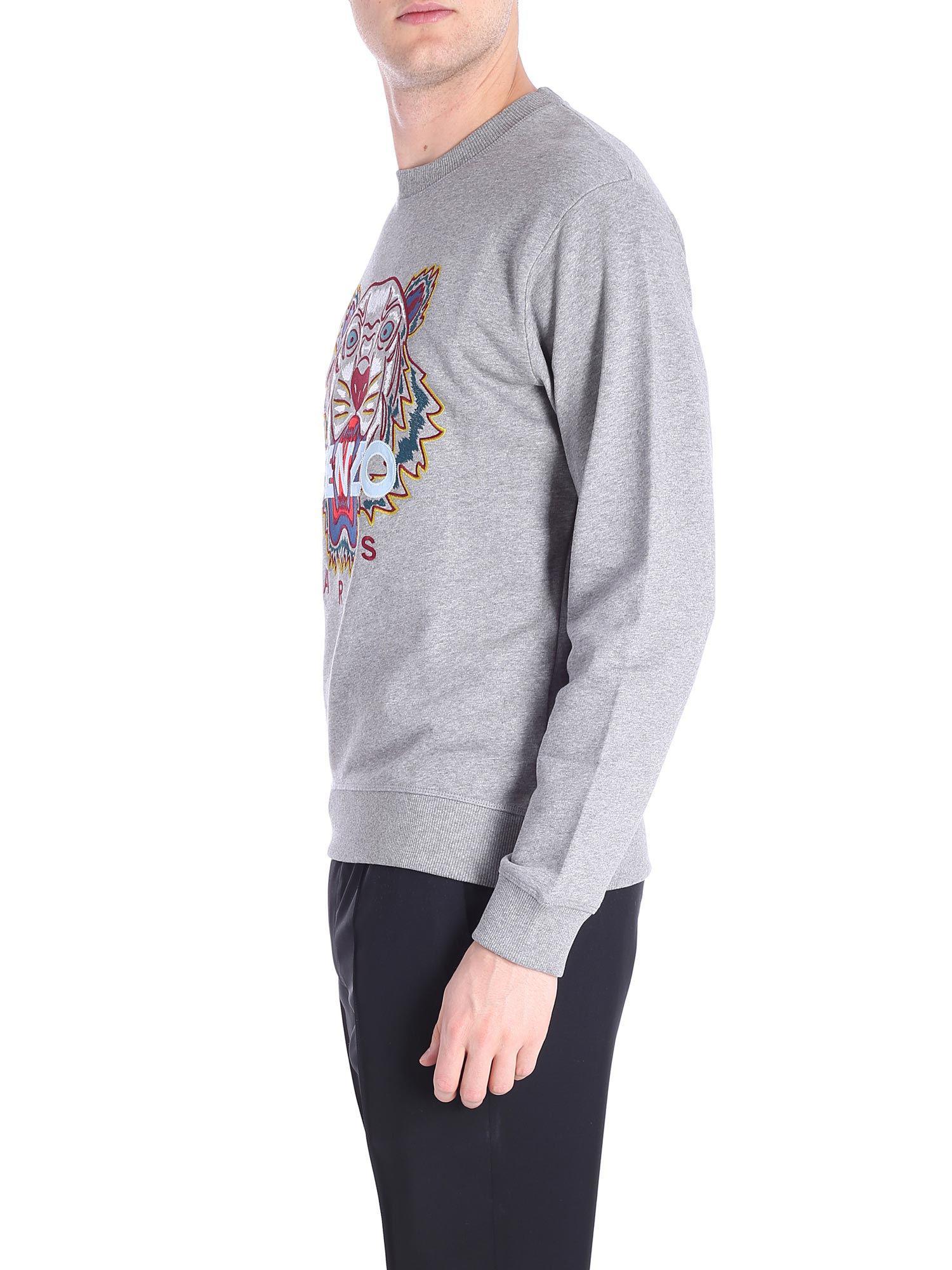 18387c08e KENZO Multicolor Tiger Gray Sweatshirt in Gray for Men - Lyst