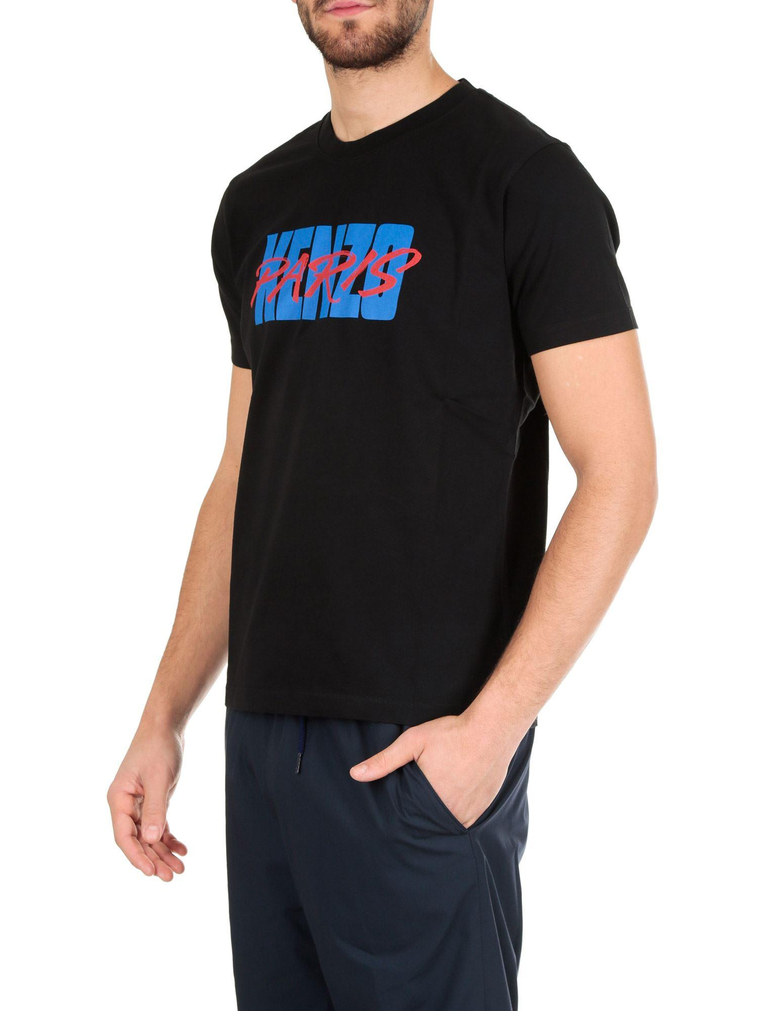 17f7ee013 Lyst - KENZO Black T-shirt With Logo Print in Black for Men