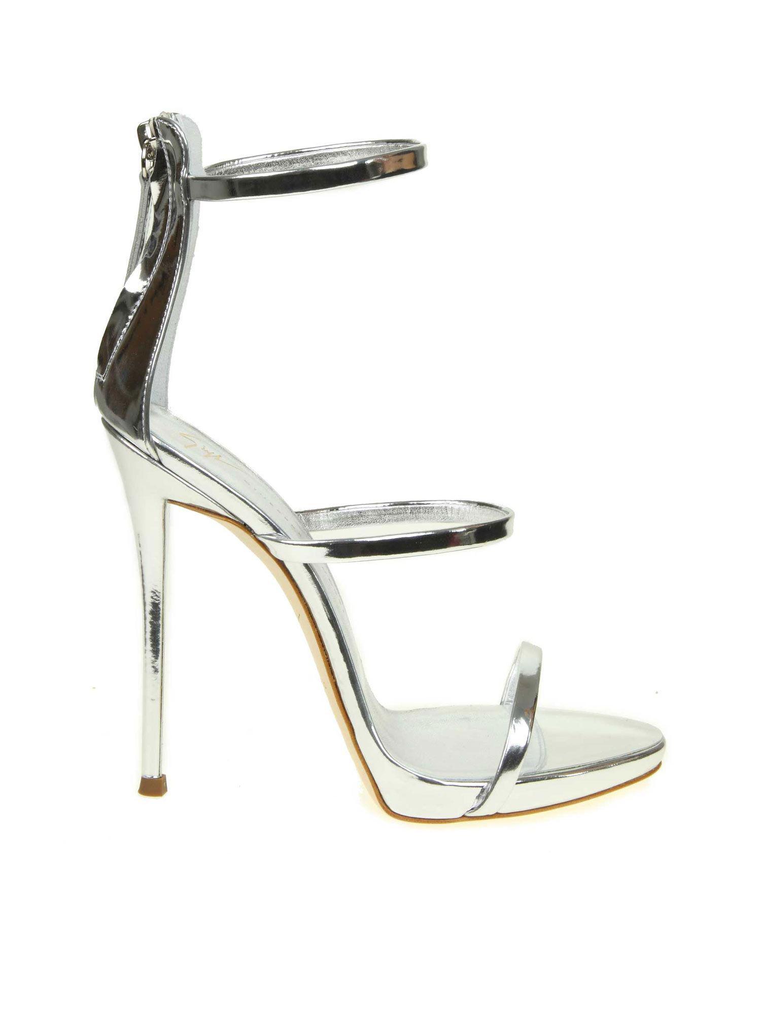 daad6b8f22d Lyst - Giuseppe Zanotti Heeled Sandals Women in Metallic - Save 9%
