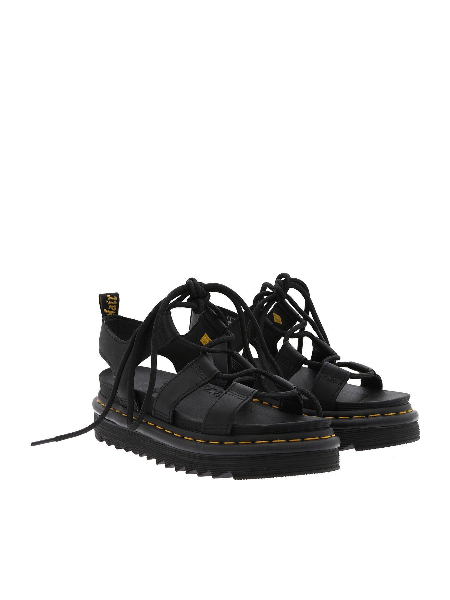 Lyst Black Nartilla Hydro In Fjlctk1 Leather Drmartens Sandals OikuXZP