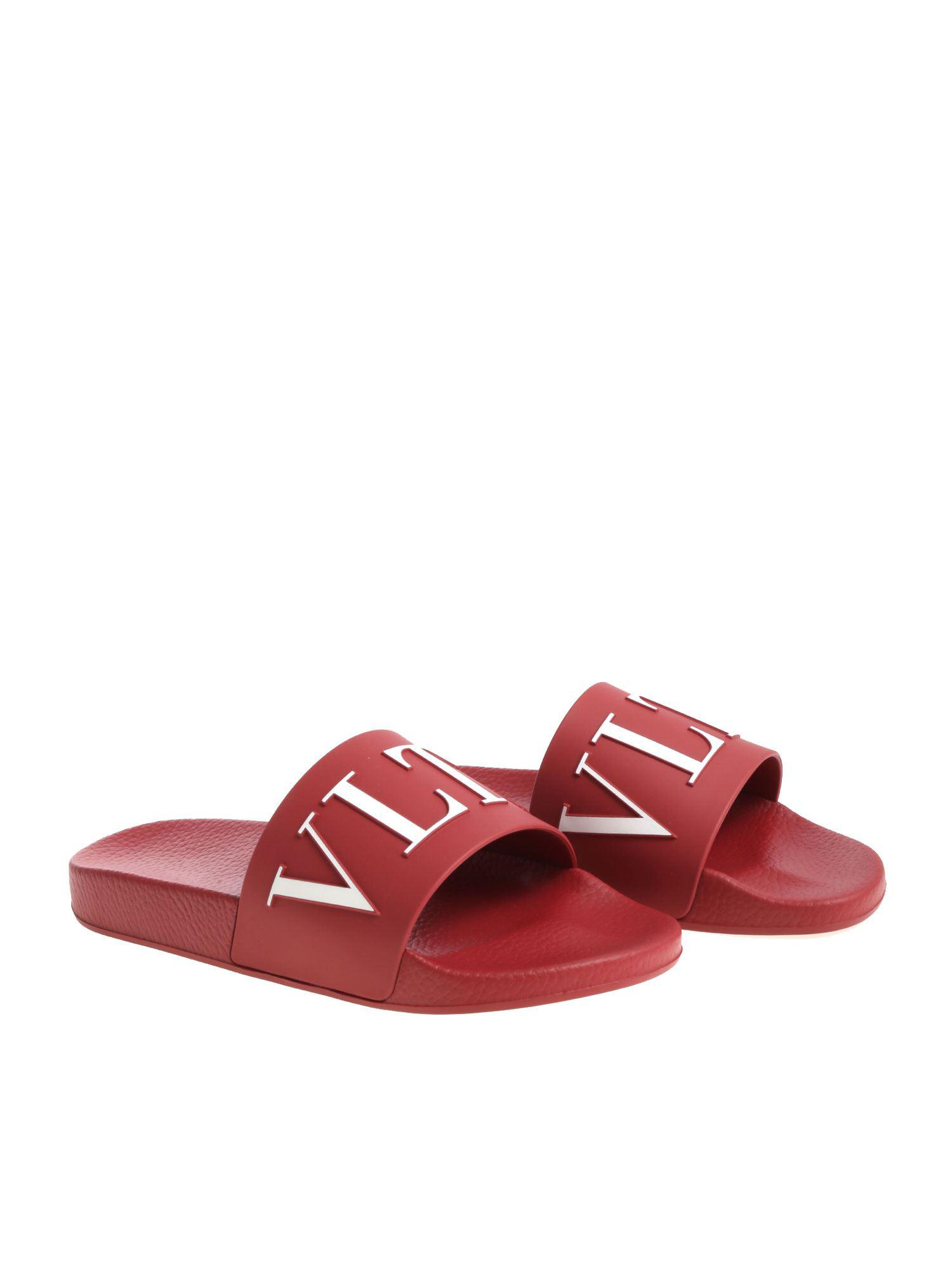 e3d568d9209 Valentino Garavani Vltn Slides in Red for Men - Save 59% - Lyst