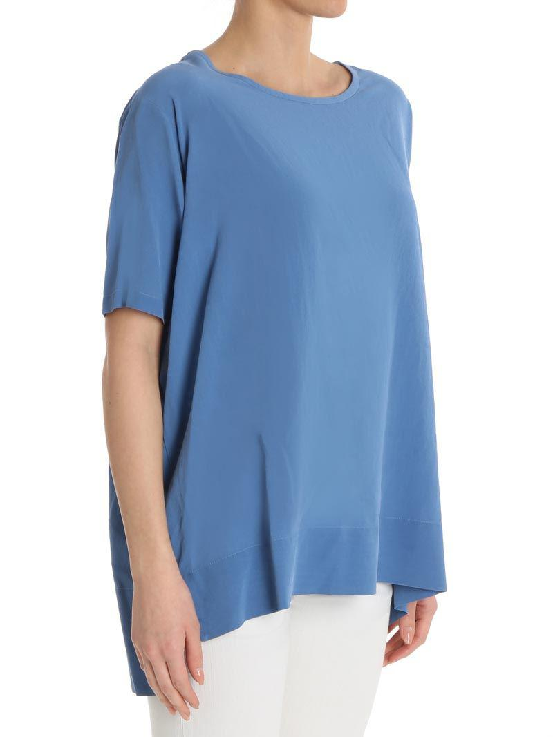 Light blue silk top ottod´Ame Cheap And Nice Big Sale Cheap Pay With Visa Release Dates Cheap Online 82uS41w