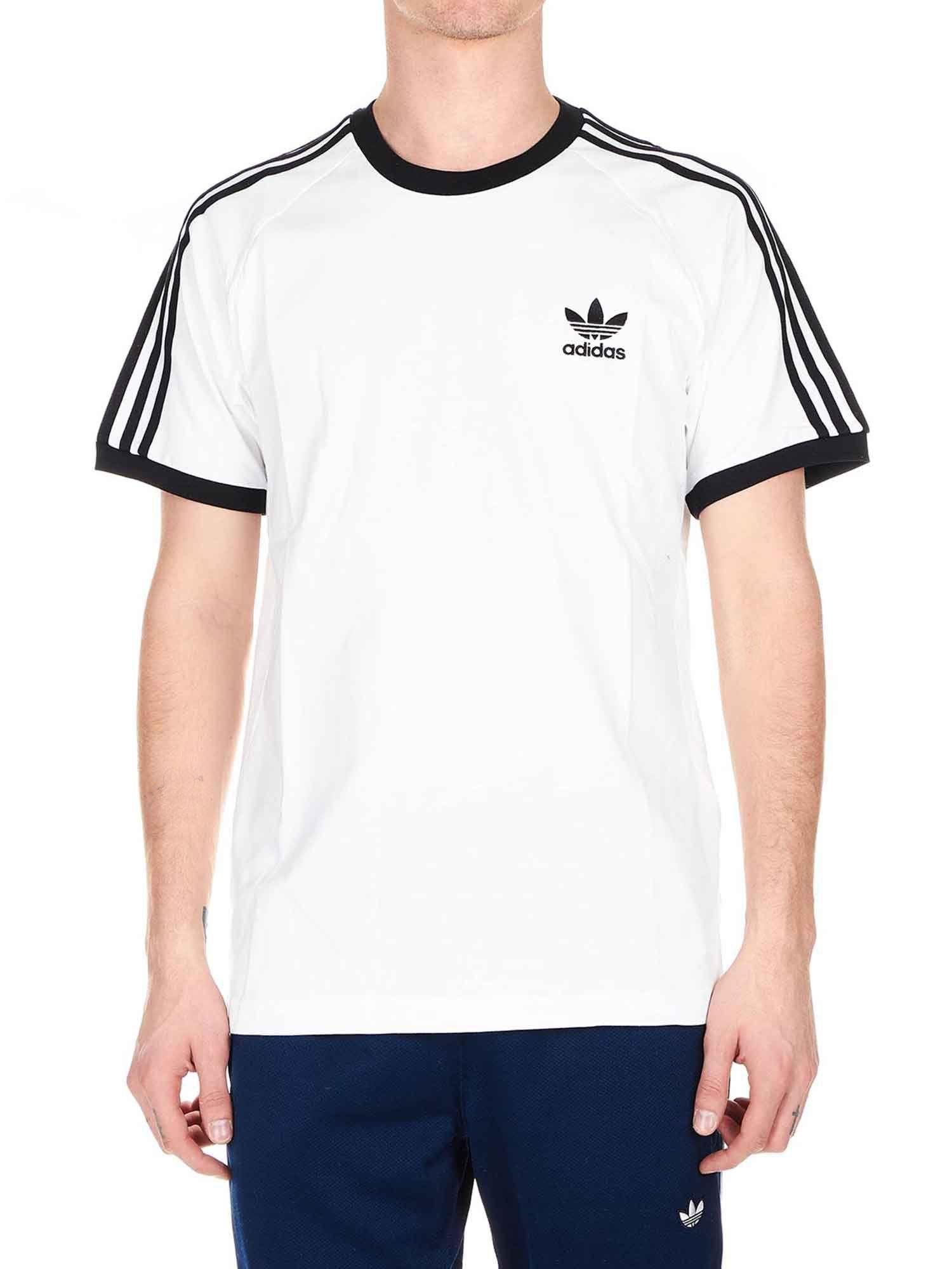 204ca26a adidas Originals 3 Stripes T-shirt In White in White for Men - Lyst