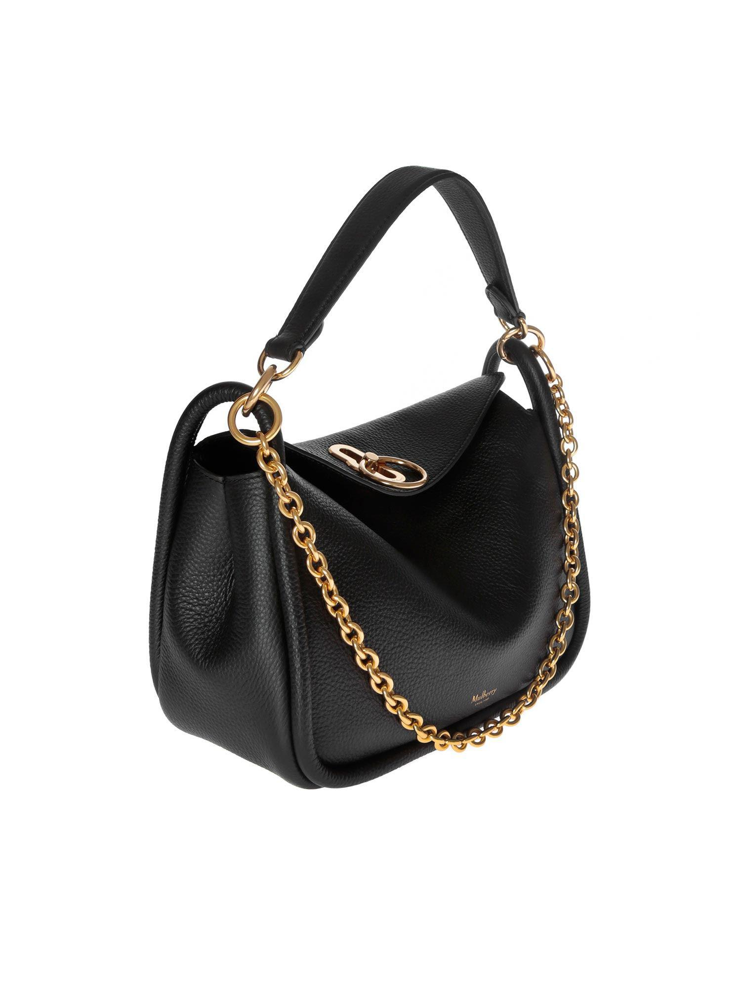 5bc34c685f Lyst - Mulberry Small Leighton Shoulder Bag In Black Leather in Black