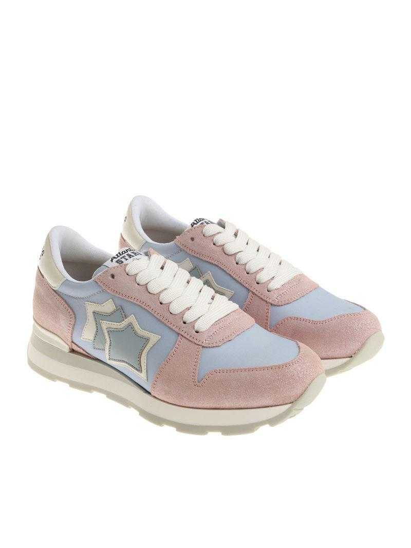 Pink and light blue Gemma sneakers Atlantic Stars bHsTrT