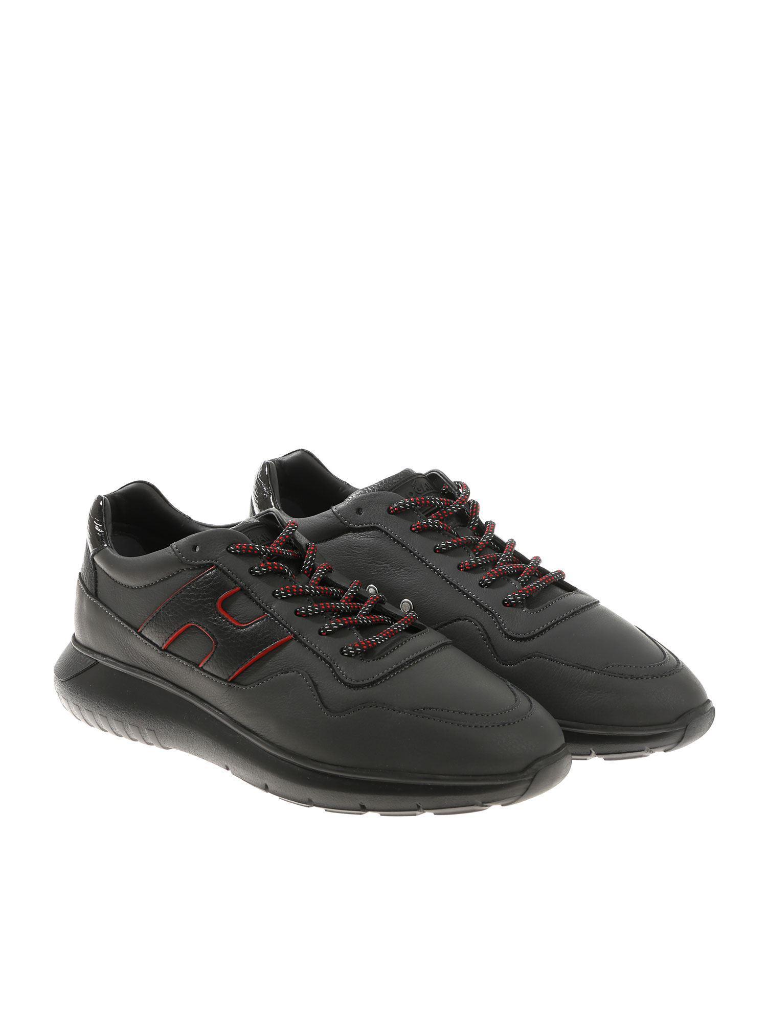 9636f1b34ca Hogan - Black Interactive 3 Sneakers for Men - Lyst. View fullscreen