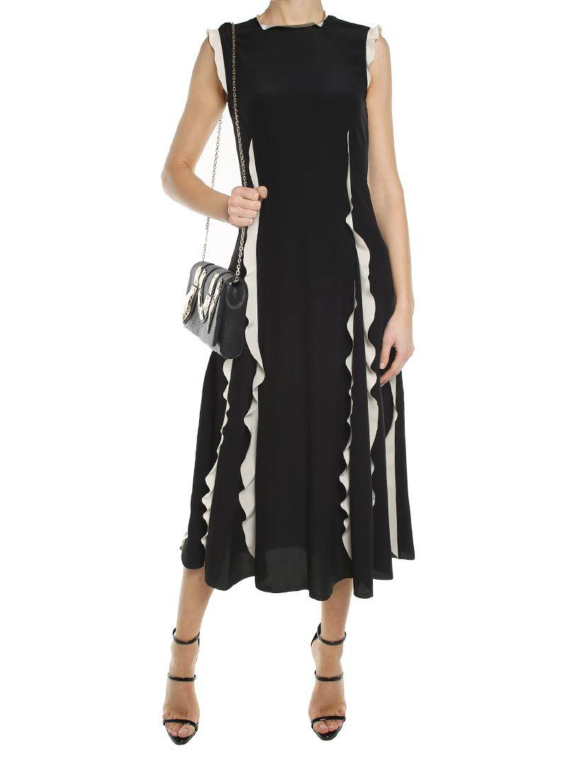 Cheap Usa Stockist Black crepe-de-chine dress Red Valentino Sale Really Low Price Fee Shipping For Sale Discount 2018 xgEmaLq