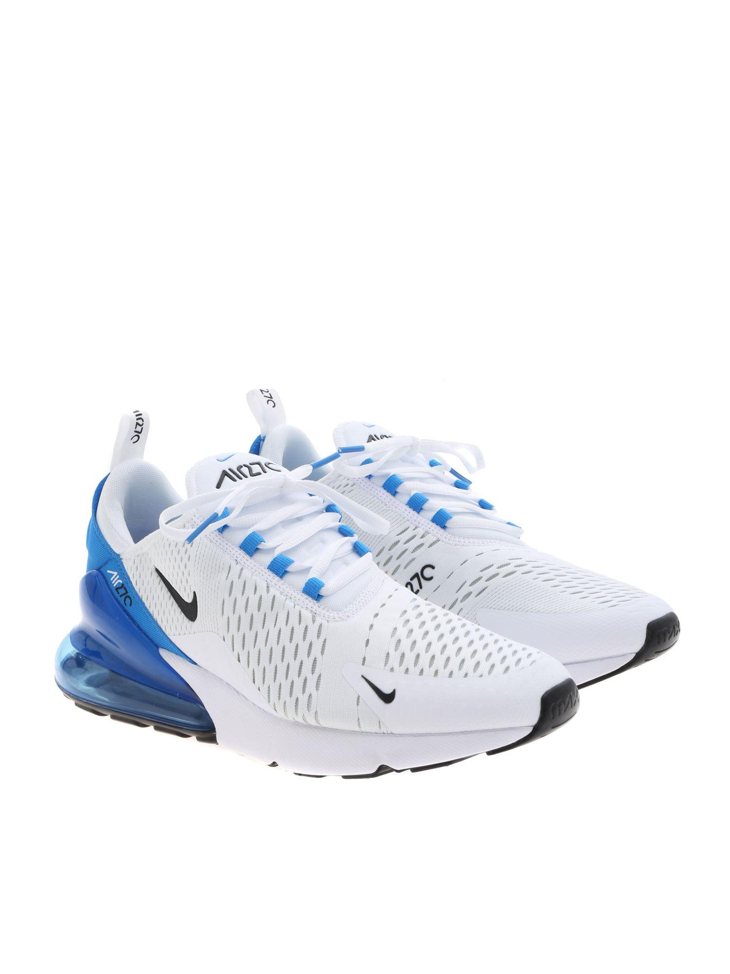 half off 0ec7c 4fdde Nike Air Max 270 Sneakers In White And Blue in White for Men - Lyst