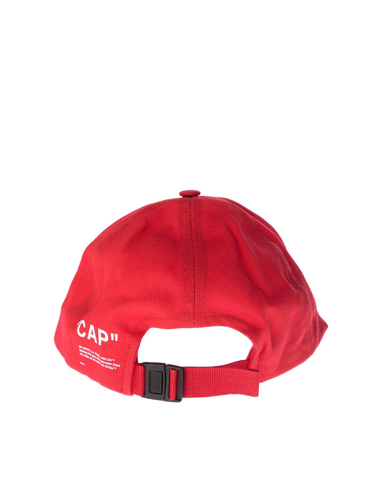 5607e5ab150 ... Virgil Abloh - White Red Quote Baseball Cap for Men. View fullscreen