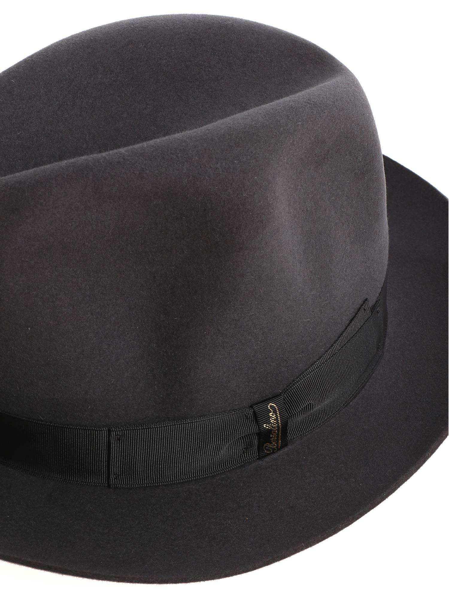 73753229b174f6 Borsalino - Dark Green Felt Marengo Hat for Men - Lyst. View fullscreen