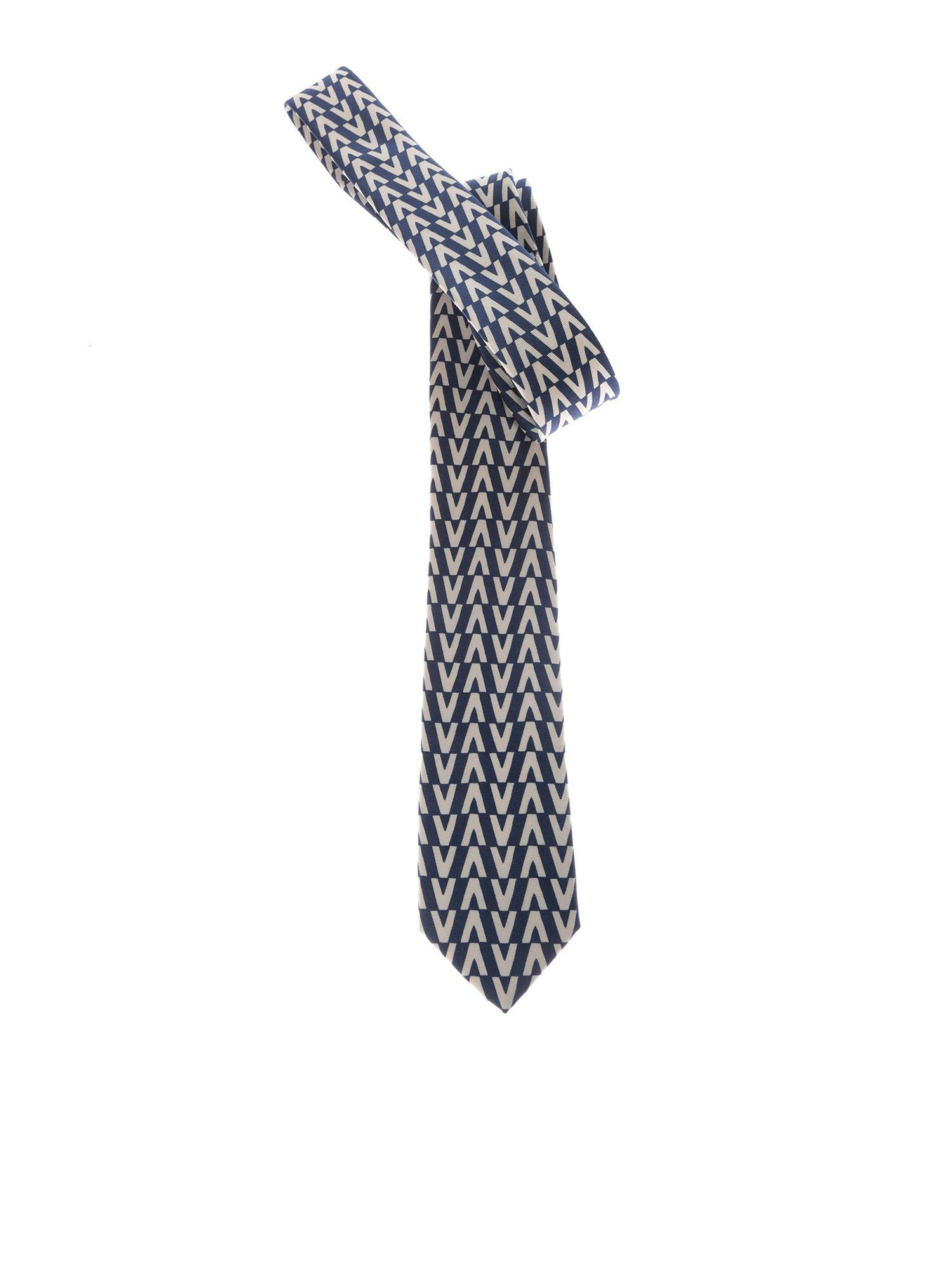 164cd4c315b Lyst - Valentino Optical Printed Tie for Men