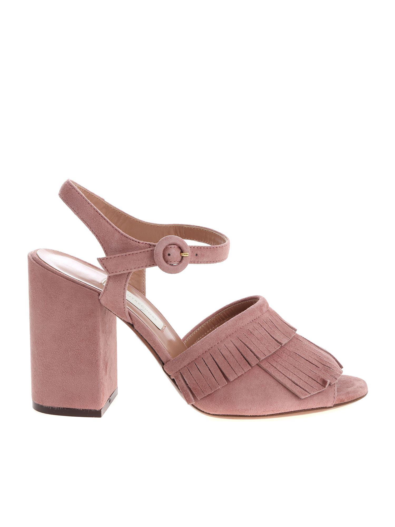 c73e14709b9b Lyst - L Autre Chose Antique Pink Suede Sandals in Pink