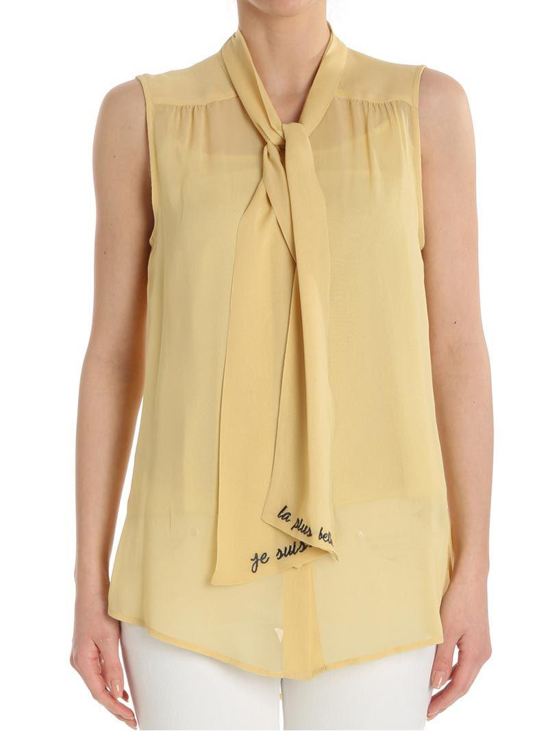 Mustard-colored V neck top ottod´Ame Buy Cheap Find Great Free Shipping Professional Hard Wearing Buy Cheap New Styles LQyBJsP