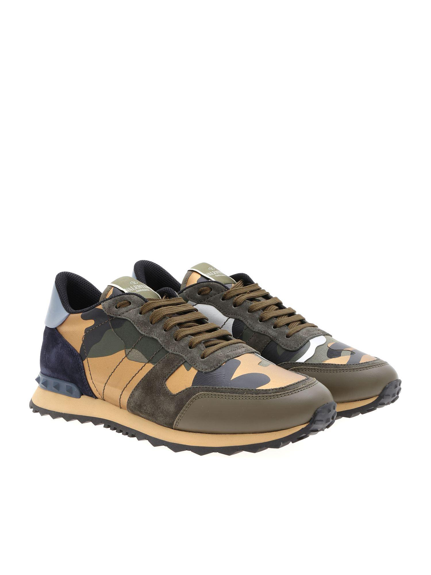 db14110ece836 Valentino Rockrunner Camouflage Sneakers for Men - Lyst