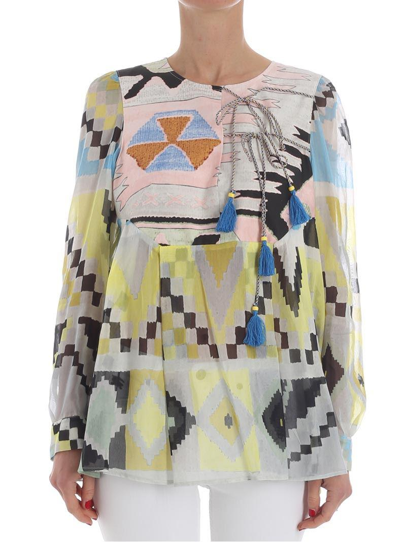Multicolor Deruta blouse Weekend by Max Mara Pay With Visa For Sale Where Can I Order Discount Pre Order Buy Cheap Great Deals Good Selling Sale Online UGOmaBRO