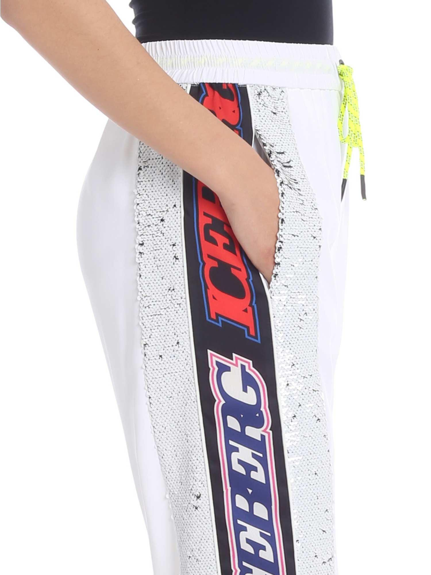 White Pants Multicolor With Lyst Iceberg In Sequins Ybfgmy76Iv