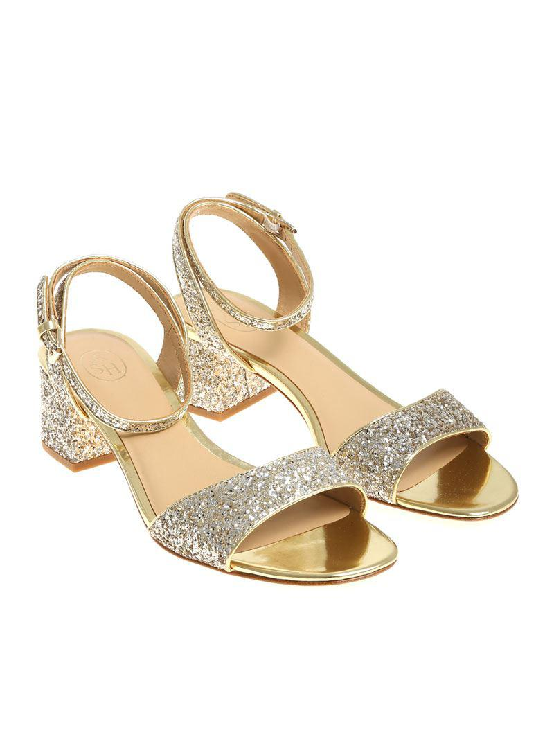 Golden and beige Remix sandals Ash ss7R8