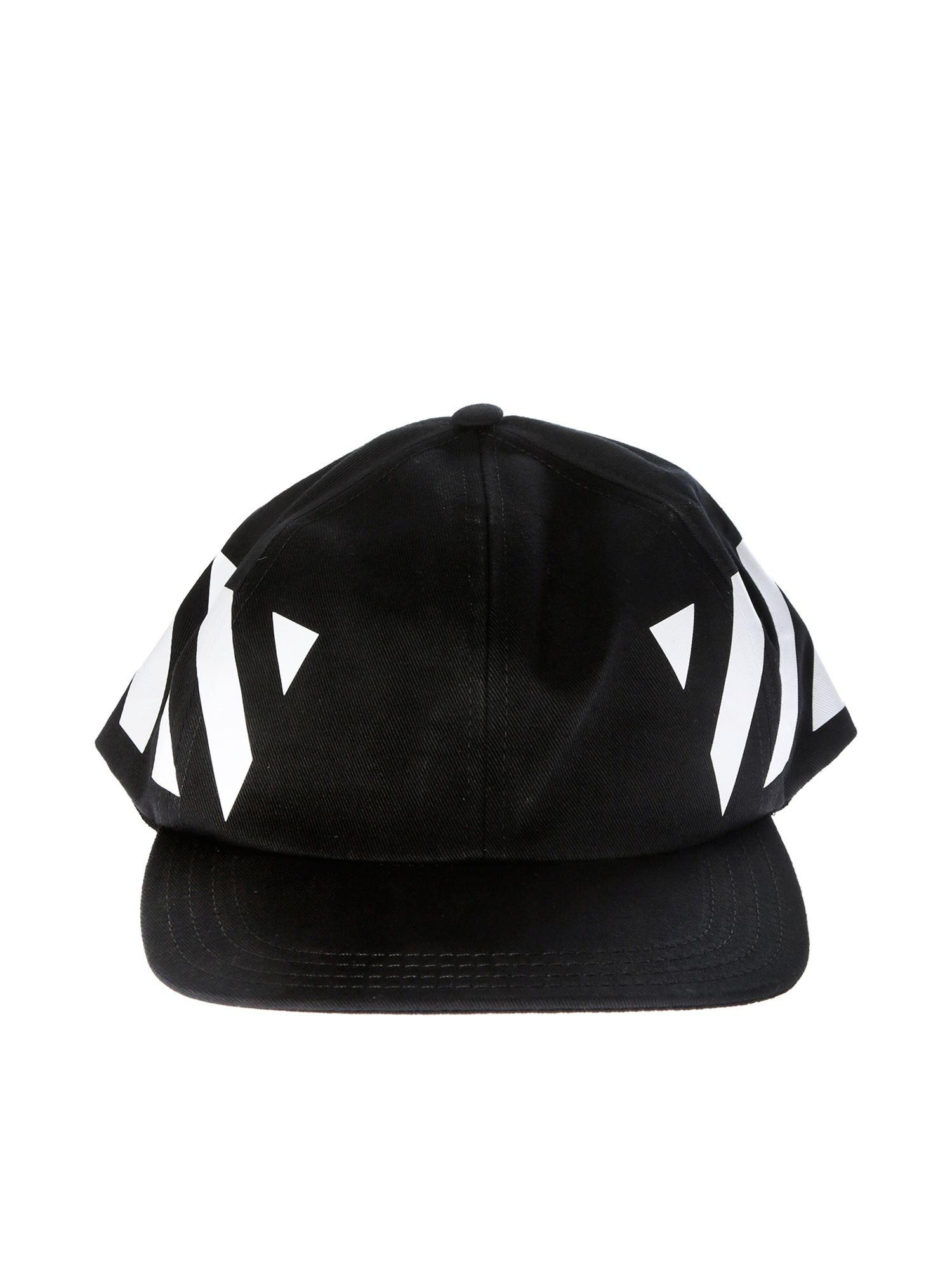 e5db558bbbb Lyst - Off-White c o Virgil Abloh Diag Black Baseball Cap in White ...