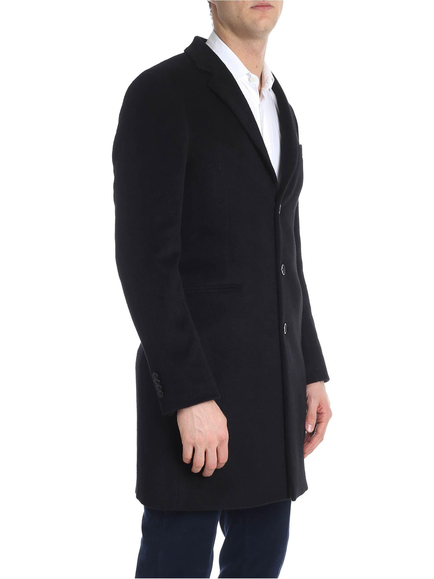 7cc3e47c57b PS by Paul Smith Black Three Button Coat in Black for Men - Lyst