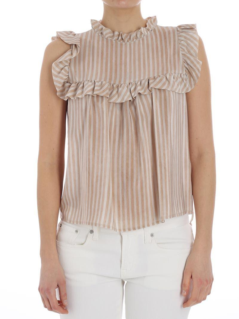 Striped top Manila Grace Clearance Online Cheap Real For Nice Online Buy Cheap 2018 New I3PQ5