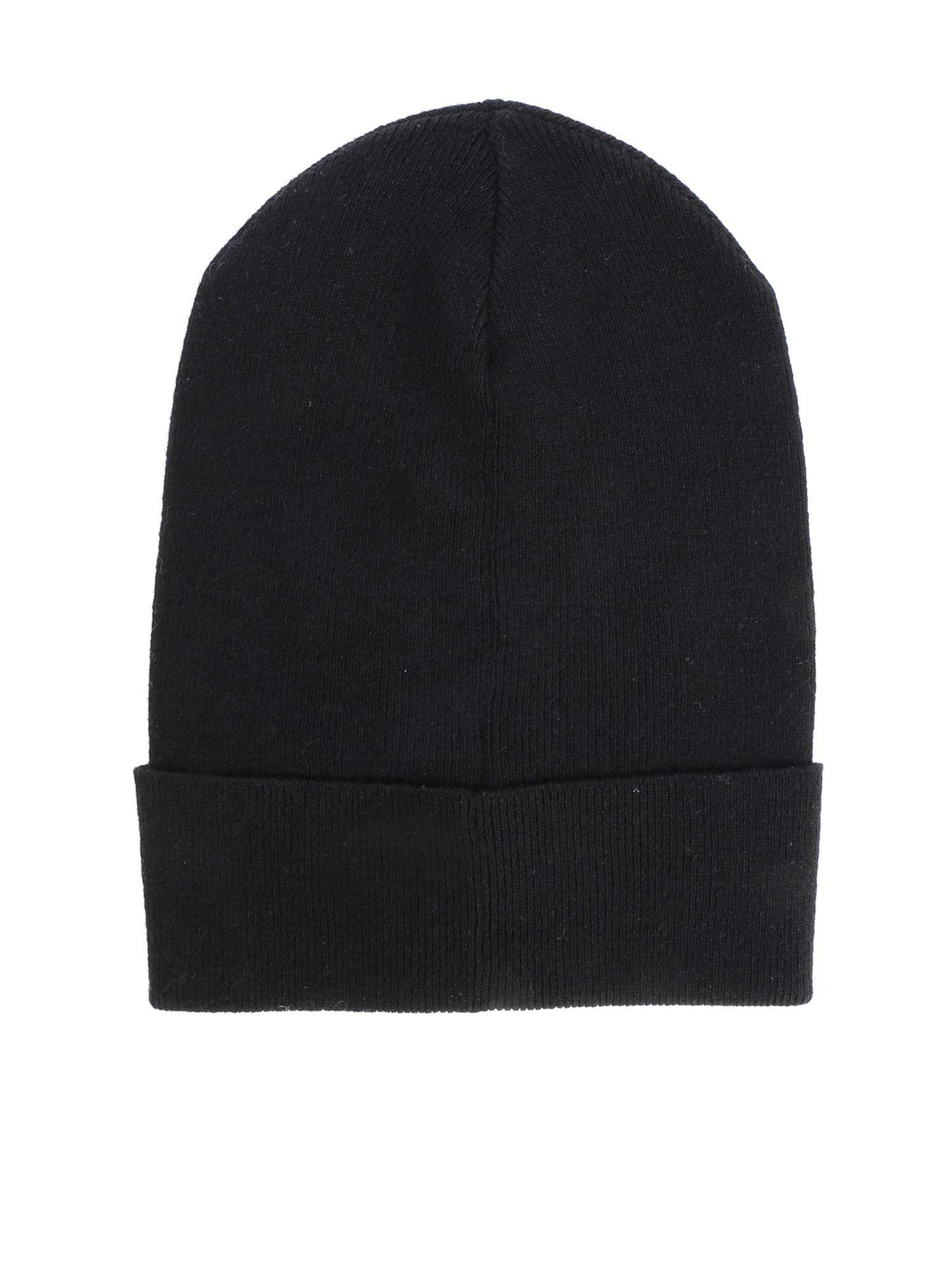 2e450325480 Lyst - Valentino Vltn Black Beanie in Black - Save 40.23529411764706%