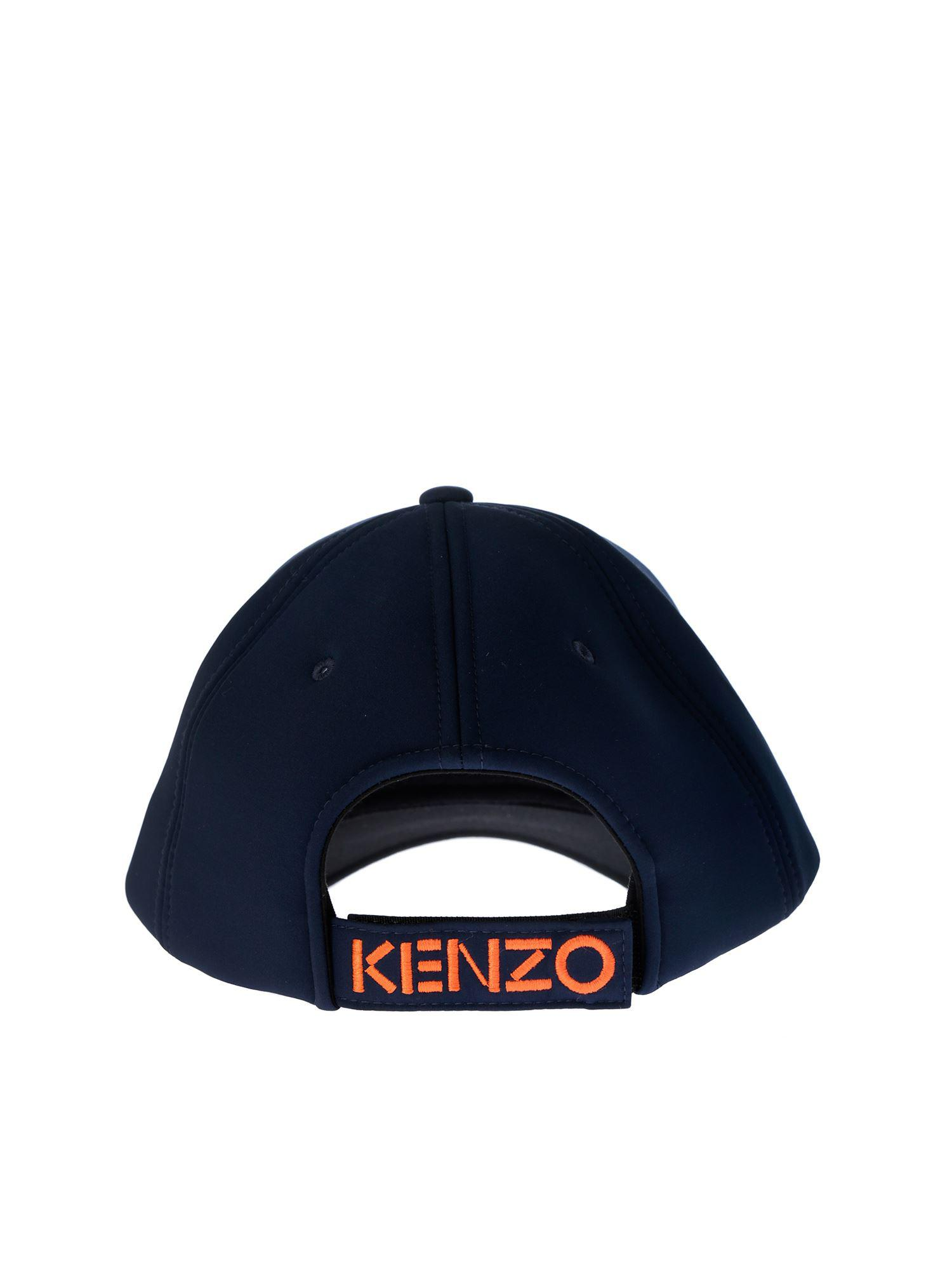 dd04336f0ee Kenzo Blue Baseball Cap With Tiger Embroidery in Blue for Men - Lyst