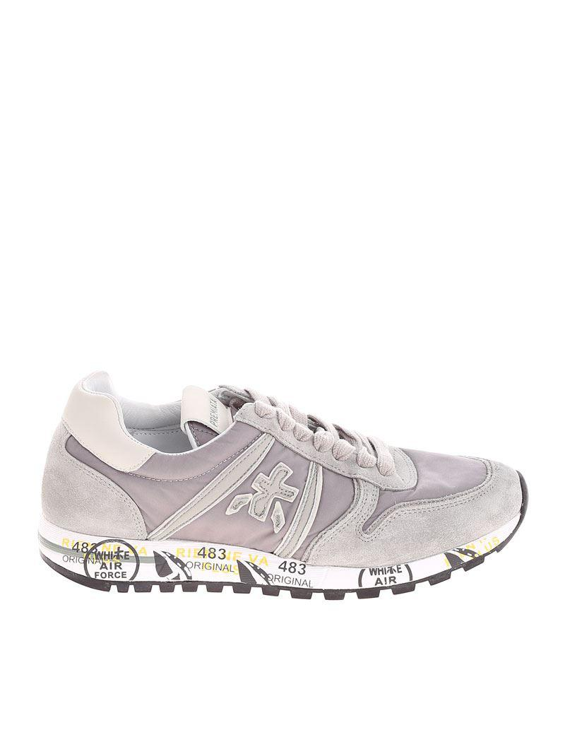 Taupe and beige Sky sneakers Premiata