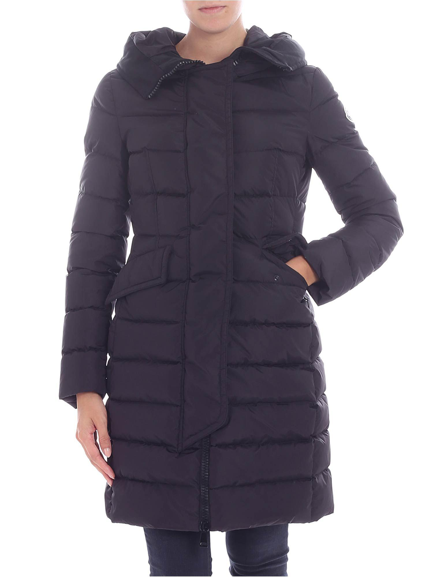 02c7bb014 Lyst - Moncler Black Quilted Jacket With Logo in Black