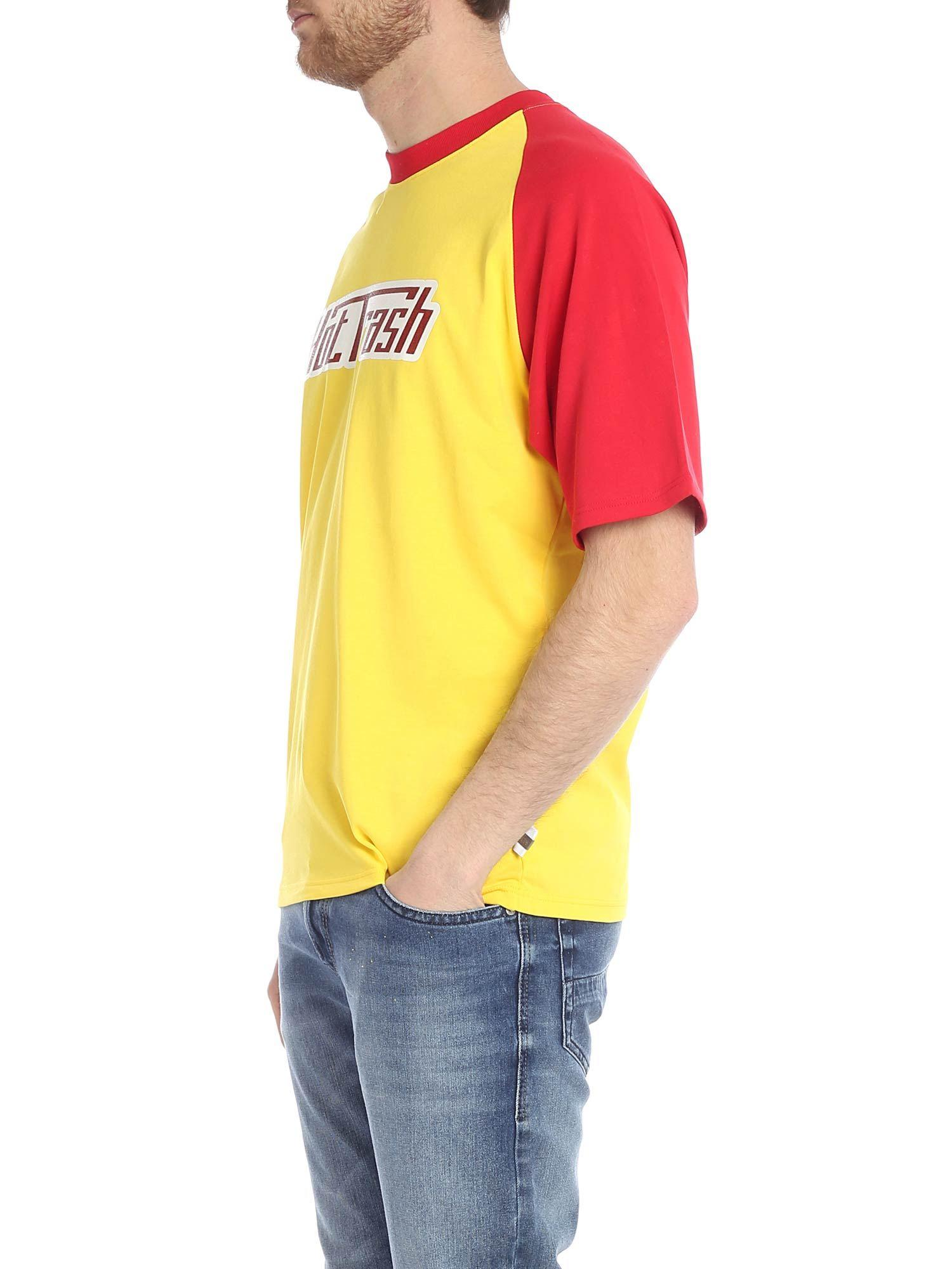 d596d4965bc2 Lyst - Gcds T-shirt In Yellow With Glitter Print in Yellow for Men