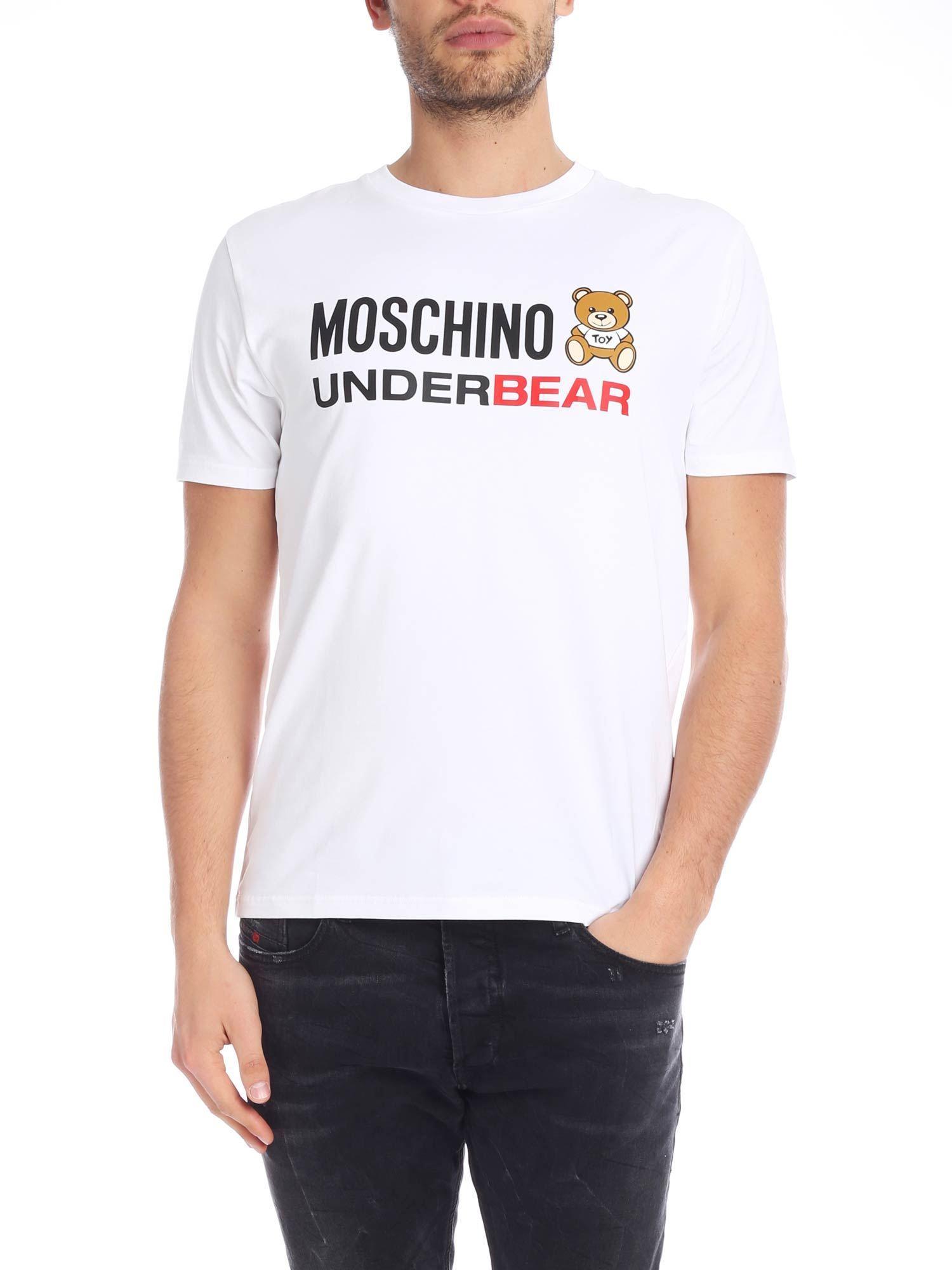 1e8754f6 Moschino - Teddy Bear T-shirt In White for Men - Lyst. View fullscreen