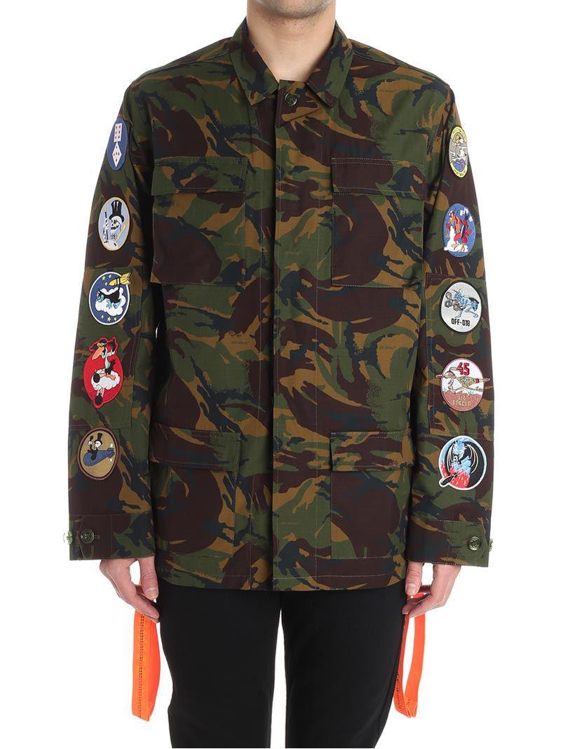 f151b1068fec Lyst - Off-White C O Virgil Abloh Camouflage Field Jacket for Men