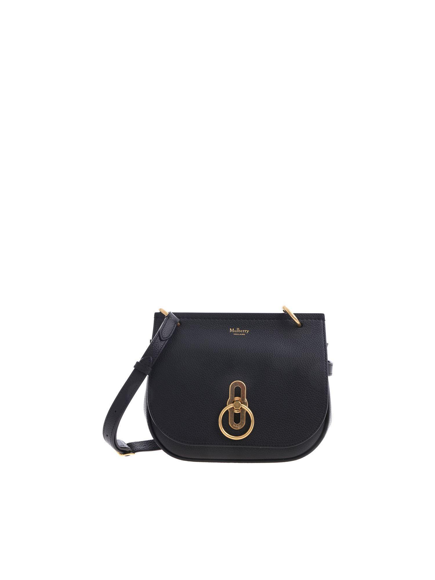 9665c051ec Mulberry - Amberley Satchel Small Black Bag - Lyst. View fullscreen