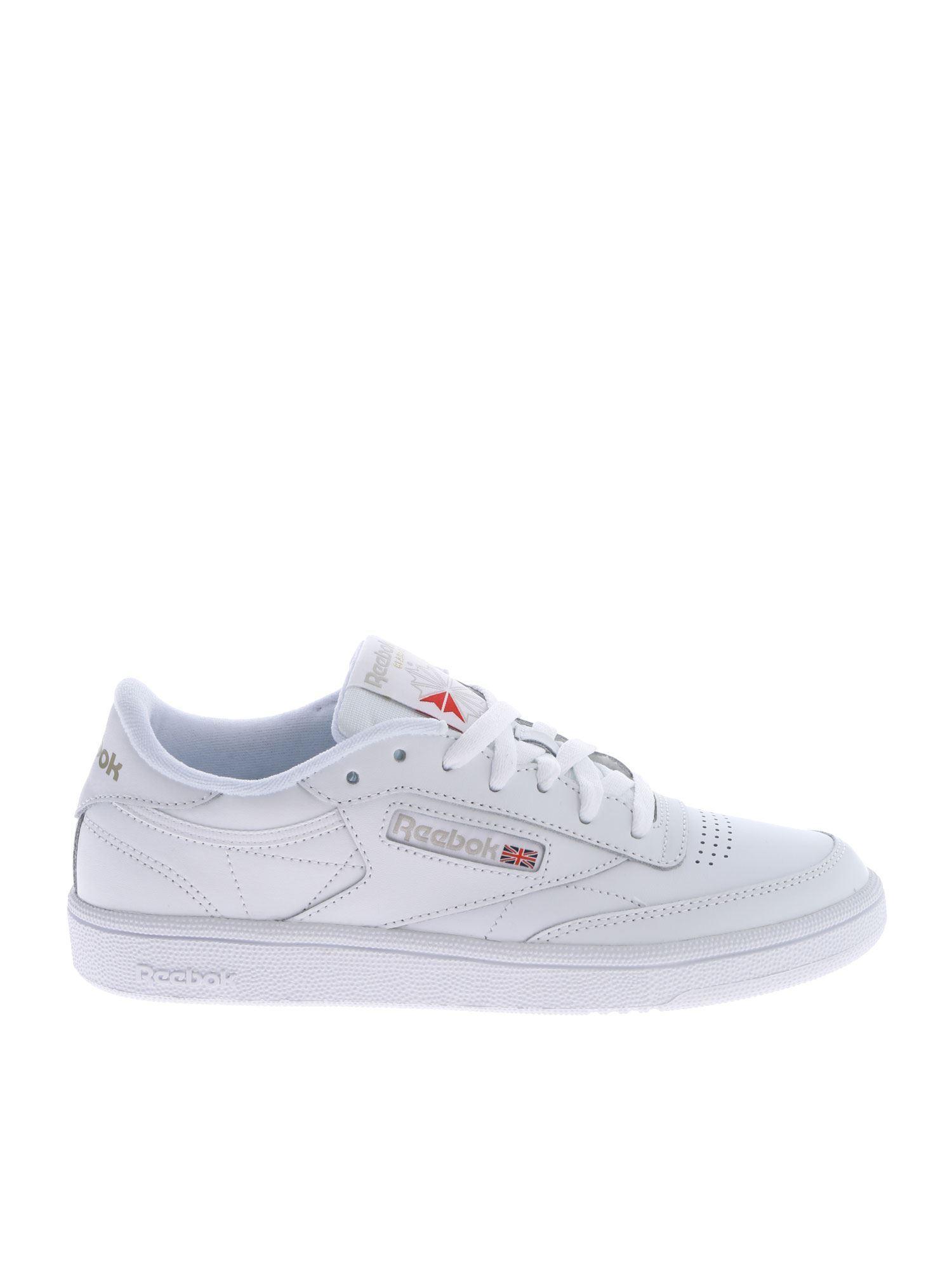 Lyst - Reebok Club C 85 White Sneakers in White 03b65b30b